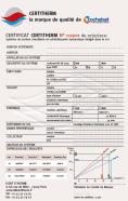 Exemple de certificat CERTITHERM